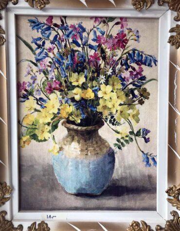 تابلو فرش گلداني