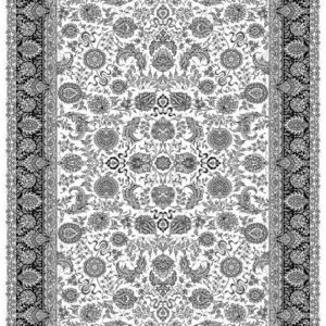 فرش ماشینی مدرن فانتزی ساوین – ۱۳۱۵ – قالیچه (کد : ۳۲۱۲۳)