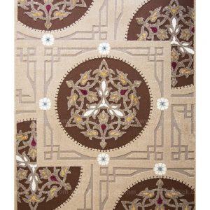 فرش ماشینی مدرن فانتزی ساوین – آدنا – آویشن – قالیچه (کد : ۲۹۳)