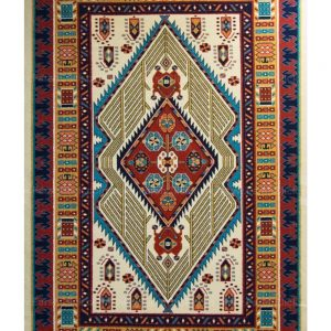 فرش ماشینی مدرن فانتزی ساوین – پازیریک – آرتا – قالیچه (کد : ۱۰۶۰۵)