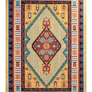 فرش ماشینی مدرن فانتزی ساوین – آرتا عسلی – ۱/۵ در ۲/۲۵ (کد : ۳۲۲۳۸)