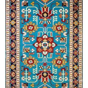 فرش ماشینی مدرن فانتزی ساوین – مهربان آبی – ۱/۵ در ۲/۲۵ (کد : ۴۳۴)