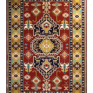 فرش ماشینی مدرن فانتزی ساوین – طوبی لاکی – ۱/۵ در ۲/۲۵ (کد : ۱۰۶۳۵)