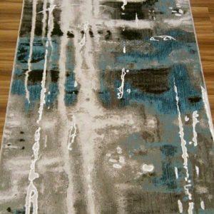 فرش رادين اصفهان طرح کالیفرنیا (۹۰۱) آبی فیلی اکرولیک