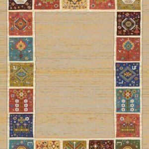 فرش رادين اصفهان گبه مارینا ۱۰۷۲- رُزی