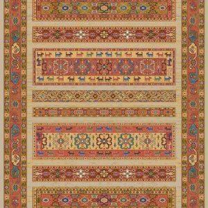 فرش رادين اصفهان گبه  ۰۰۹ – ۱۰۸۱ رزي