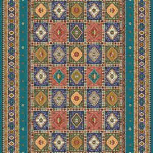فرش رادين اصفهان یَلَمه ۱۰۹۸ – آبی کله غازی