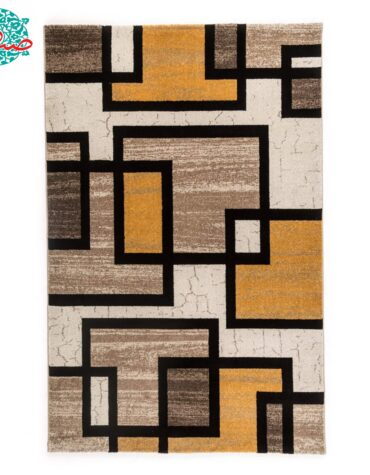 فرش ماشینی فرش ساوین طرح ۴۰۰۴ زمینه کرم
