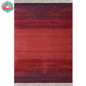 فرش ماشینی رادین طرح گبه ۱۳ رنگ زمینه لاکی