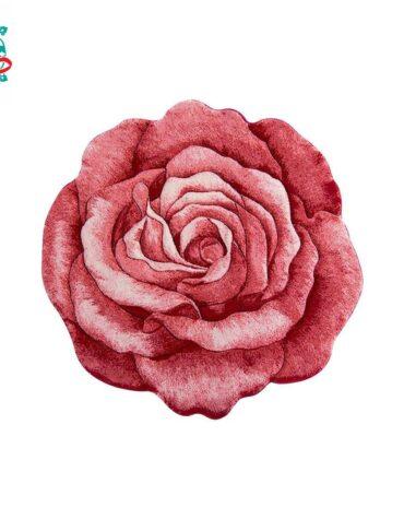 فرش سه بعدی زرباف مدل گل رز
