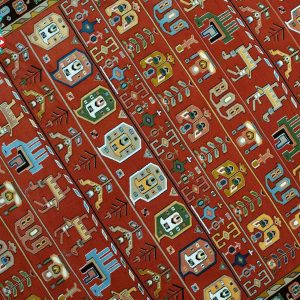 فرش ماشینی فرش رادین طرح گبه ۰۰۳ گوجه ای