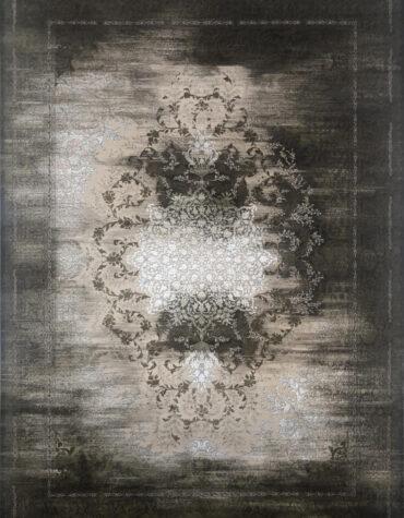فرش نویان طرح مدرن ۶۱۱۳ رنگ قهوه ای