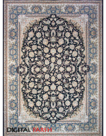 فرش ماشینی مشهد اردهال طرح ۱۲۰۵۷ پرکلاغی