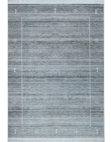 فرش ماشینی رادین طرح گبه ۱۵ رنگ زمینه طوسی
