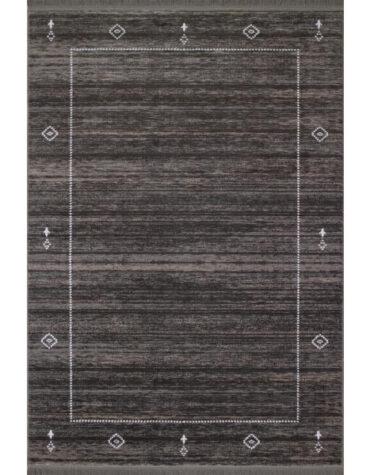 فرش ماشینی فرش رادین طرح گبه ۱۵ رنگ زمینه موشی