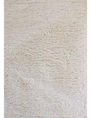 فرش ماشینی مرینوس مدل شگی پرزبلند سفید کد ۴۷۵۹۷
