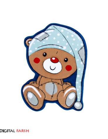 فرش کودک زرباف طرح خرس کلاه دار