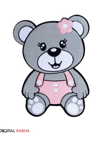 فرش کودک زرباف طرح خرس