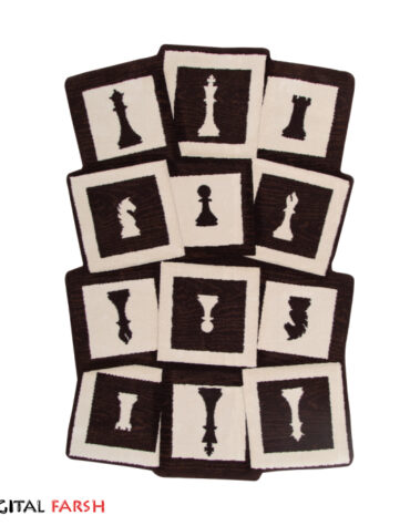 فرش سه بعدی زرباف طرح شطرنج