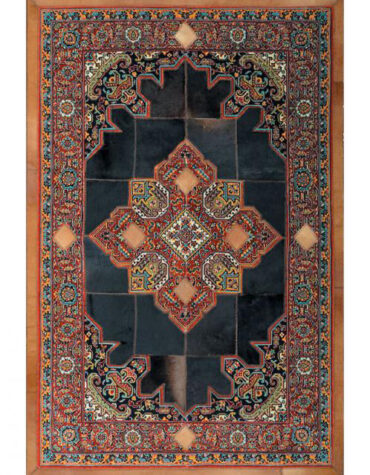 فرش ماشینی کرامتیان طرح پوست و فرش هریس