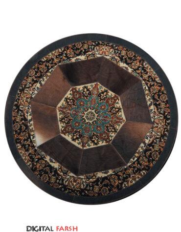 فرش ماشینی کرامتیان طرح پوست و فرش اصفهان