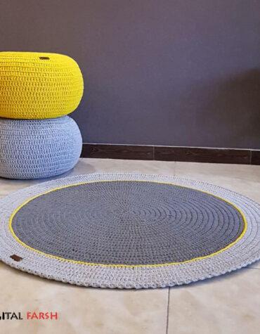 فرش دایره ای دستبافت مدرن راگ ایران طرح ۱۸۲۰