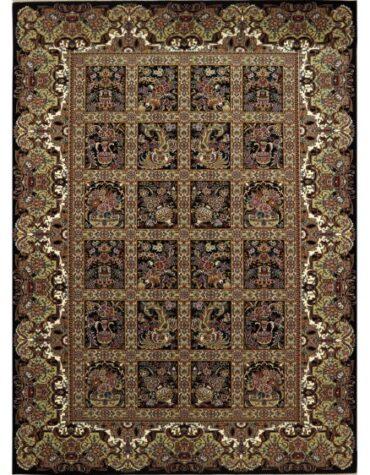 فرش ماشینی رادین اصفهان طرح دلفریب رنگ زمینه قهوه ای