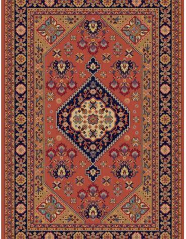 فرش ستاره کویر یزد کلکسیون شاهسون طرح B005-5039