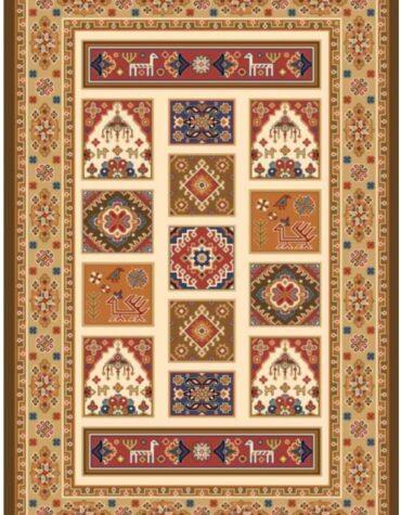 فرش ستاره کویر یزد کلکسیون شاهسون طرح W301-5101