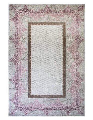 فرش ساوین کد ۱۵۰۵ زمینه صورتی