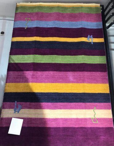 فرش دستبافت هندی پشم طبیعی کد ۰۲