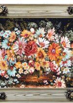 تابلو فرش سبد گل