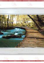 تابلو فرش رودخانه جنگلي