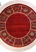 فرش ماشینی رادین اصفهان طرح گرد مارینا زمینه لاکی