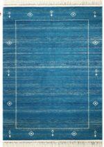 فرش ماشینی رادین طرح گبه ۱۵ رنگ زمینه کله غازی