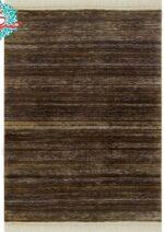 فرش ماشینی رادین طرح گبه ۱۴ رنگ زمینه قهوه ای