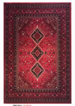 فرش رادین اصفهان طرح بلوچ ۵ رنگ زمینه اناری