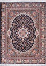 فرش  زمرد مشهد طرح ۳۶۰۰۶ زمینه سرمه ای