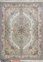 فرش پاتریس طرح ابریشم یاسی