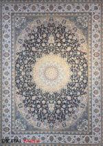فرش مشهد اردهال طرح ۱۲۰۱۵ سرمه ای