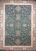 فرش ماهریس طرح ماهگل ۱۲۰۰ شانه رنگ آبی اطلسی