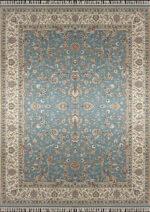 فرش زمرد مشهد طرح ۱۴۰۰۹ زمینه آبی