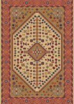 فرش ستاره کویر یزد کلکسیون شاهسون طرح B008-5003