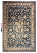 فرش قیطران طرح سپیده رنگ آبی
