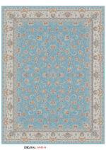 فرش تهران طرح افشان درباری آبی روشن
