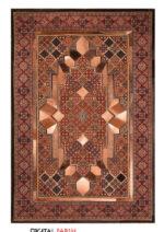 فرش ماشینی کرامتیان طرح پوست و فرش جوشقان