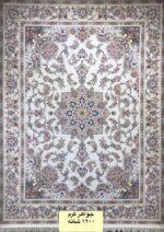 فرش ماشینی فرشینه طرح جواهر کرم