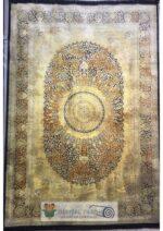 فرش جردن کلکسیون بامبو مشکی طلایی طرح کد ۴۴۲۳