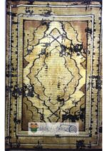 فرش جردن کلکسیون بامبو مشکی طلایی طرح کد ۴۴۱۴