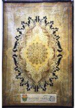 فرش جردن کلکسیون بامبو مشکی طلایی طرح کد ۴۴۱۱
